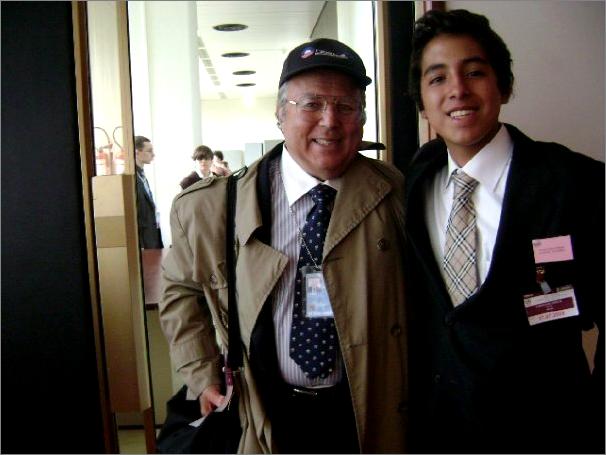 Robert Berg with Nicolas